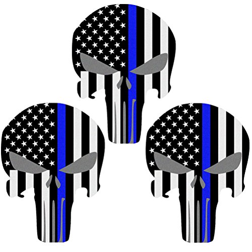 Reflective-Punisher-Skull-55-x-41-inch-US-flag-Decals-with-Thin-Blue-Line-for-Cars-Trucks-American-USA-Flag-Decal-Sticker-Honoring-Police-Law-Enforcement-Window-Bumper-Vinyl-Stickers