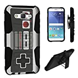 Galaxy J7 (J700) Case, DuroCase ® Hybrid Dual Layer Combat Armor Style Kickstand Case w/ Holster for Samsung Galaxy J7 SM-J700 (2015/2016) / SPHJ700 (2016) – (Game Controller) For Sale