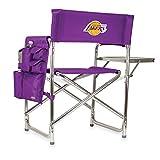 PICNIC TIME NBA Los Angeles Lakers Portable Folding Sports Chair, Purple