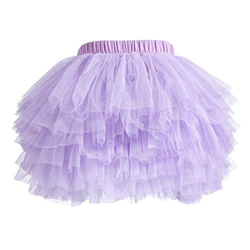 Baby Girls' Tutu Skirt Toddler 6 Layered Tulle Tutus 1-8T Light Purple