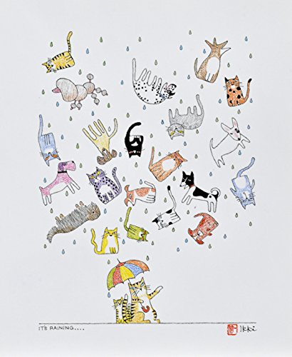 Its Raining Cats and Dogs by Ikki Matsumoto, Lithograph, Limited edition of 1000