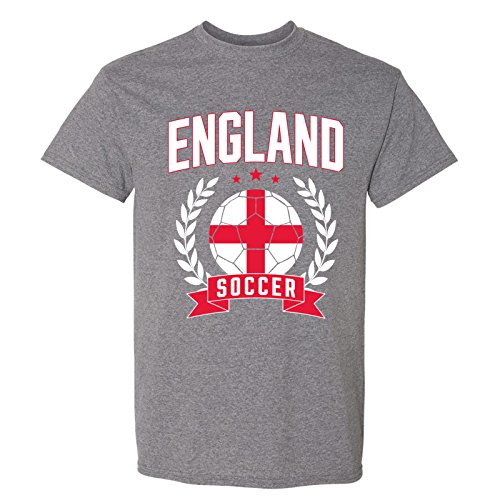 Polo World Cup - England Soccer Laurel - 2018 World Football Cup T Shirt - X-Large - Graphite Heather
