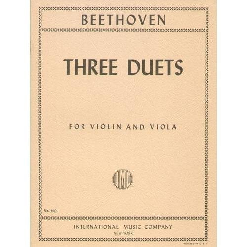 Beethoven, Ludwig - 3 Duets WoO 27 for Violin and Viola - Arranged by Hermann Pagels - International