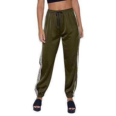 Beikoard - Pantalon Pantalon Survêtement Femme Sexy, Décontracté à Rayures  Taille Haute Femmes Legging de 50bce09b60d9