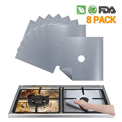 Stove Burner Covers Reusable Gas Stove Protector - FDA Approved Gas Range Protectors | Non-stick Stovetop Protector Liner - Heat Resistant BPA Free Non Toxic & Cuttable and Easy to Clean (Non Stick Stovetop)