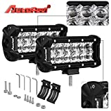 LED Light Bar, Autofeel 7 Inch 36W 5D Lens Spot Beam Driving Fog Light Off Road Led Light Bar with Adjustable Mounting Bracket for Off Road Jeep ATV AWD SUV 4WD 4x4 Pickup