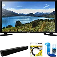 Samsung 32 720p LED TV (UN32J4000) with Solo X3 Bluetooth Home Theater Sound Bar, 6ft High Speed HDMI Cable Black & Universal Screen Cleaner for LED TVs