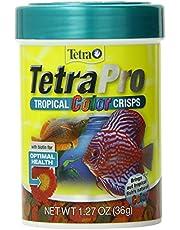TetraPro Tropical Color Crisps, Fish Food With Natural Color Enhancers