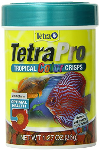 (TetraPro Tropical Color Crisps, Fish Food with Natural Color Enhancers)