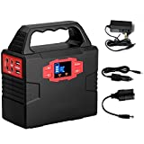 ACOPOWER 150Wh Portable Solar Generator Power Supply Energy Storage Lithium ion Battery Charged by Solar/AC Outlet/Cars with Dual AC Outlet, 3 DC Ports, 2 USB Ports