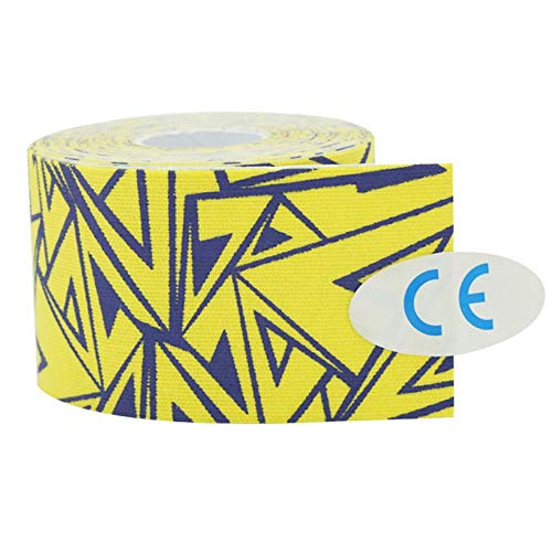 Alomejor Muscle Tape Cotton Elastic Strain Tape Self Adhesive Bandages Elastic Therapeutic Sports Tape Strapping Bandage(Thunderbolt)