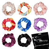 Bundle Monster 8pc Womens Fancy Shawl Scarf Fashion Polyester Scarves Solid Color Mixed Lot - Set 9