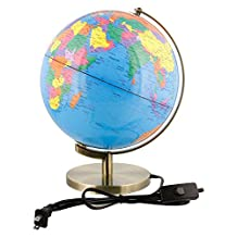 "10"" Inch (25cm) Illuminated Premium Blue Ocean Desktop World Earth Globe"