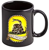 Coffee Cup with Don't Tread On Me USMC Logo - Stoneware Mug, Patriotic Gifts