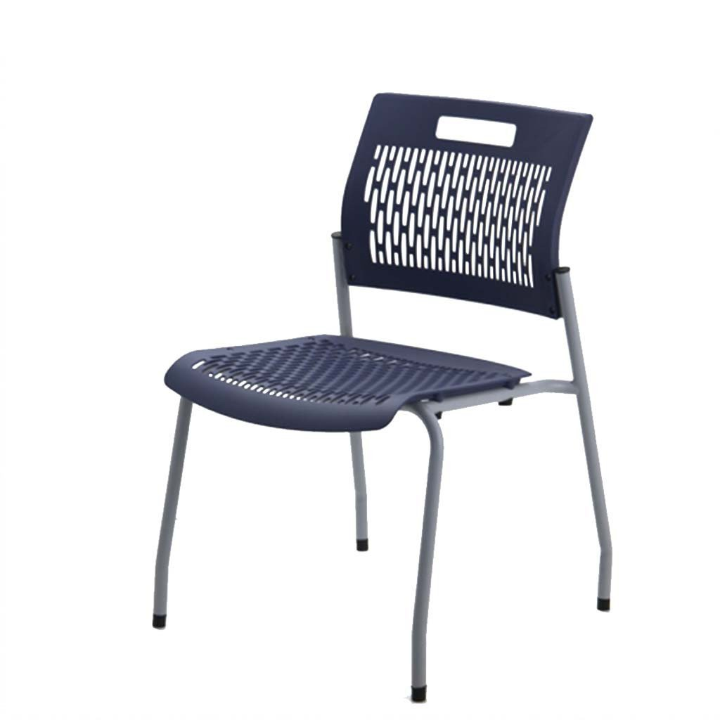 FlexOne Stacking Chair, Navy, Arrives Fully Assembled