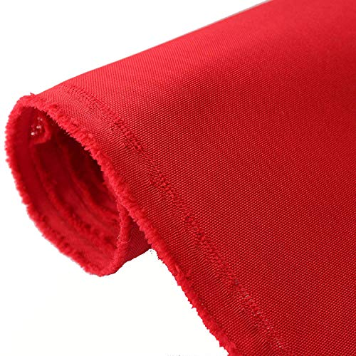 (Waterproof Canvas Fabric 600 Denier Indoor/Outdoor Fabric by The Yard PU Backing UV Protector Canvas Marine Awninig Fabric Red (1 Yard))