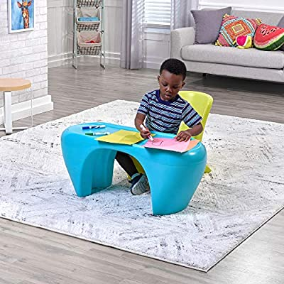 Step2 Junior Chic 3Piece Furniture Set | Kids Plastic Play Table & Chair Set | Colorful Sleek Modern Design: Toys & Games