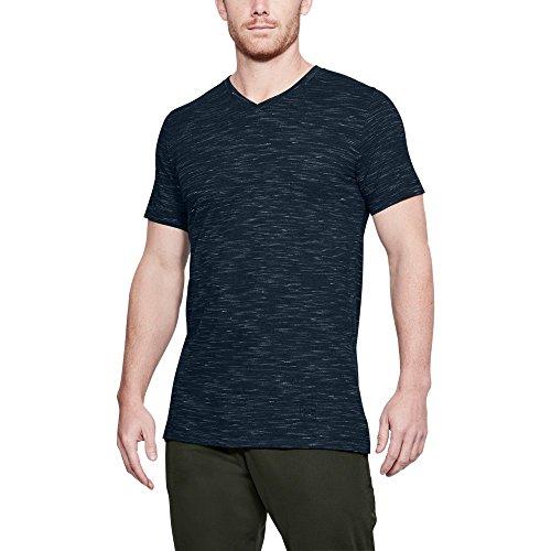 Under Armour Men's Sportstyle Core V-Neck, Academy (408)/Academy, Medium (Under Armour Flash Shirt)