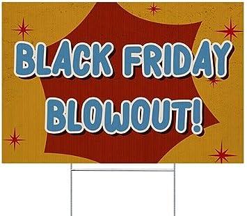 Black Friday Blowout Nostalgia Burst Double-Sided Weather-Resistant Yard Sign CGSignLab 18x12