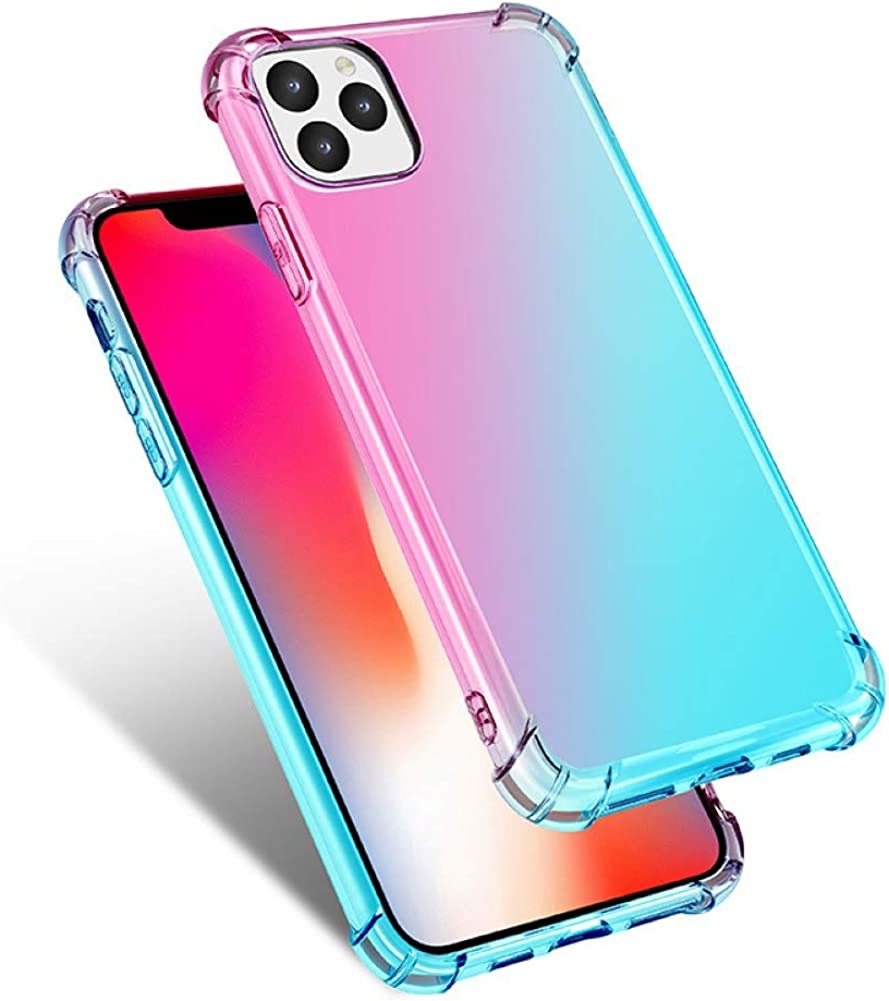 carduran Gradient Color Phone Back Case Cover Shell Shockproof Suitable for iPhone 11 Pro Max