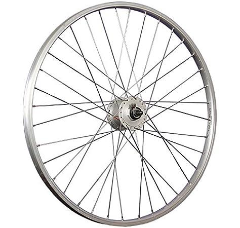 Taylor-Wheels 26 Pulgadas Rueda Delantera Bici Aluminio Dinamo buje Plateado: Amazon.es: Deportes y aire libre