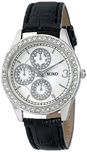 030506245940 upc xoxo women 39 s xo3042 black leather strap watch upc lookup for Watches xoxo