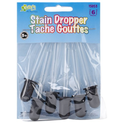 (Kelly's Crafts: Glass Stain Droppers, Pack of 6)