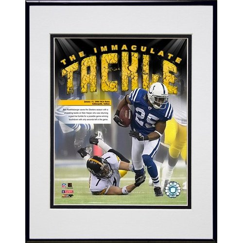 - Photo File Pittsburgh Steelers Ben Roethlisberger Immaculate Tackle Framed Photo