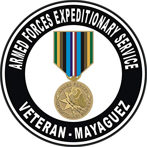 US Navy Armed Forces Expeditionary Medal Mayaguez Military Veteran Served Window Bumper Sticker Vinyl Decal 3.8