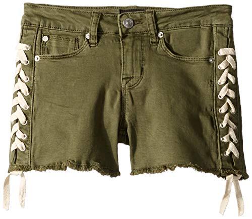 HUDSON Girls' Big Fashion Short, Bailey Army Green 12 -