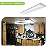 Hykolity 4FT LED Commercial Wraparound Light Low