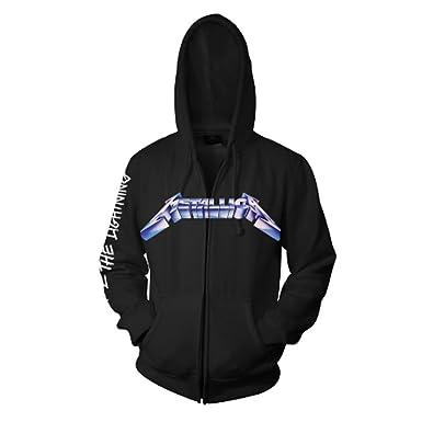 d6226f36 Official Metallica - Ride The Lightning - Black Zip Hoodie: Amazon ...