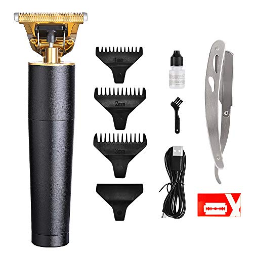 Professional Hair Outliner Grooming Trimmer Clippers for Men - Close Cutting T-Blade Hair Trimmer Cordless Hair Cutting Kit Electric Rechargeable Pro Li Outliner