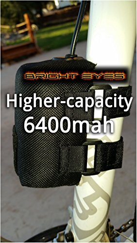 Bright Eyes The BEST Bike Light Battery – NOW HIGHER CAPACITY – Works With CREE T6 LED 1200lm Bike Lights – 8.4v (6400mAh Battery Only) Review