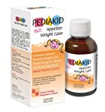Pediakid Appetite-Weight Gain. All New Formula. Natural Appetite and Weight Gain Stimulant for Underweight Children Fortified with Vitamin C & B12