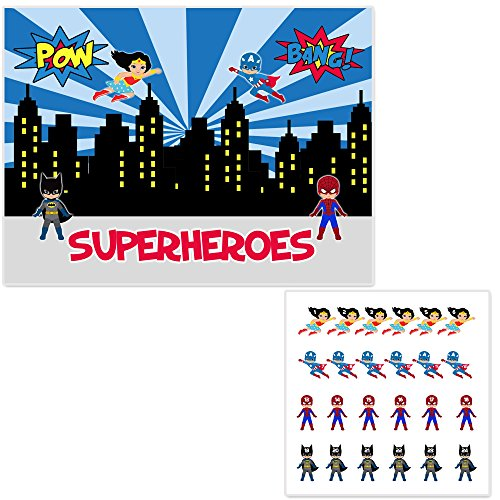 (Pin the Superheroes On the City Birthday Party)