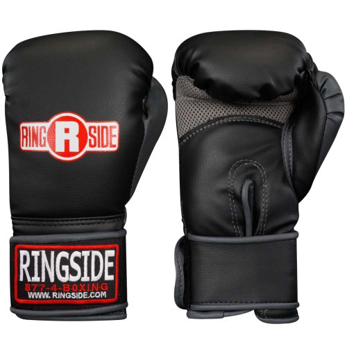 Ringside Synthetic Bag Gloves, Regular, Black