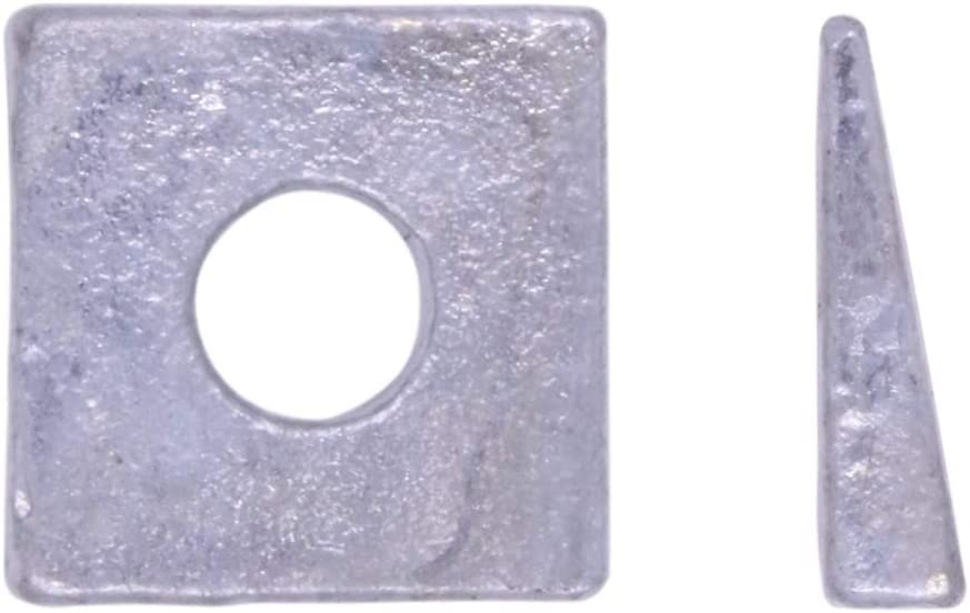 """1//2/"""" Square Beveled Malleable Washer Malleable Iron Hot Dip Galvanized"""
