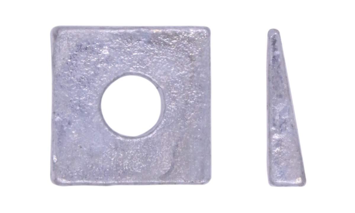 U-Turn - 3/8 Square Beveled Washer Malleable Iron Galvanized (250 Pack) by U-Turn Fasteners, Inc.