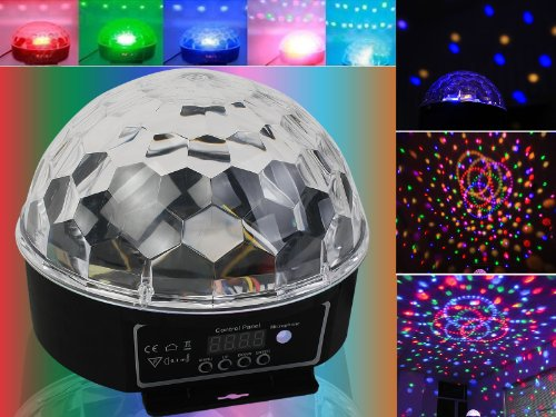 DMX512 Stage Lighting Digital LED RGB Crystal Magic Ball Disco DJ Effect (Led Disco Lighting Effect)