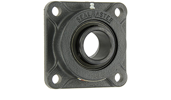 Sealmaster SFT-32R Standard Duty Flange Cartridge Unit Felt Seals 2 Bolt Setscrew Locking Collar 2 Bore 9//16 Flange Height Regreasable Cast Iron Housing /±2 Degrees Misalignment Angle 6-3//16 Bolt Hole Spacing Width 7-7//16 Overall Length