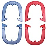 E-Z Flip Horseshoes, Made in the USA! (Red & Blue- Two Pair Set (4 shoes))