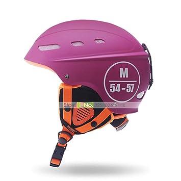 Marca Hombre/Mujer / Niños Casco de Esquí Velo Invierno Snowboard Casco Moto Bike Esquís