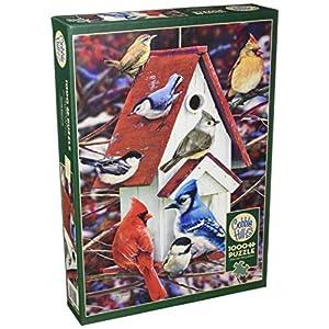 Cobblehill 80122 1000 Pc Winter Birdhouse Puzzle Vari