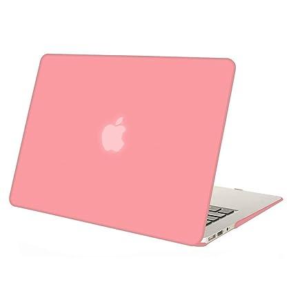 MOSISO Funda Dura Compatible con MacBook Air 11 Pulgadas (A1370 / A1465), Ultra Delgado Carcasa Rígida Protector de Plástico Cubierta, Rosa