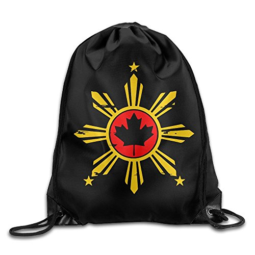 Filipino Canadian Drawstring Pack Beam Mouth School Travel Backpack Shoulder Bags For Men / Women from 05_&_NG