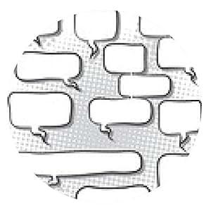 alfombrilla de ratón ilustración del vector de expresión burbujas cómicas - ronda - 20cm