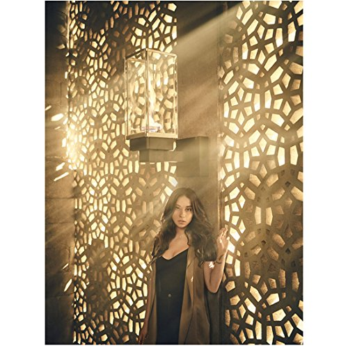 The Magicians Stella Maeve as Julie Wicker leaning back on latticed wall 8 x 10 Inch Photo (The Wicker Julia Magicians)