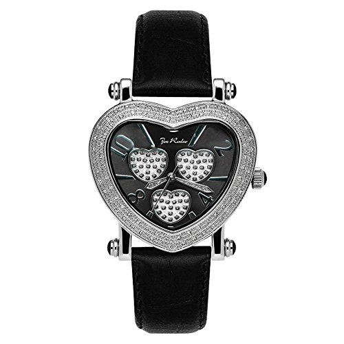 Joe Rodeo Diamond Ladies Watch - MOVING HEART silver 0.75 ct