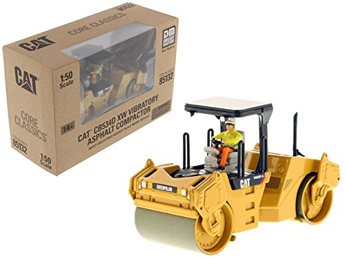 CAT Caterpillar CB-534D XW Vibratory Asphalt Compactor/Roller Core Classics Series with Operator 1/50 Model by Masters